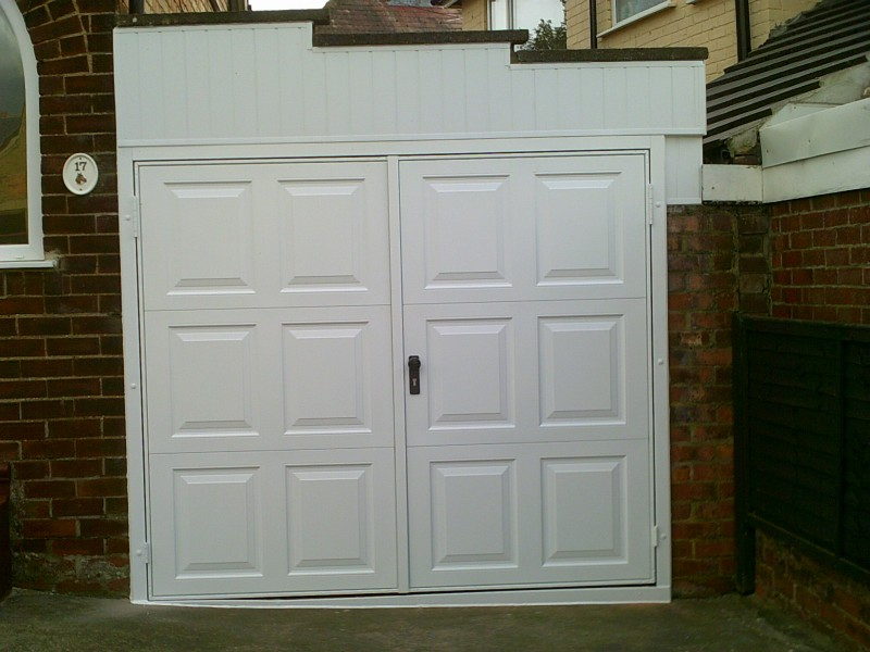 Georgian Side Hinged Garage Door (After)