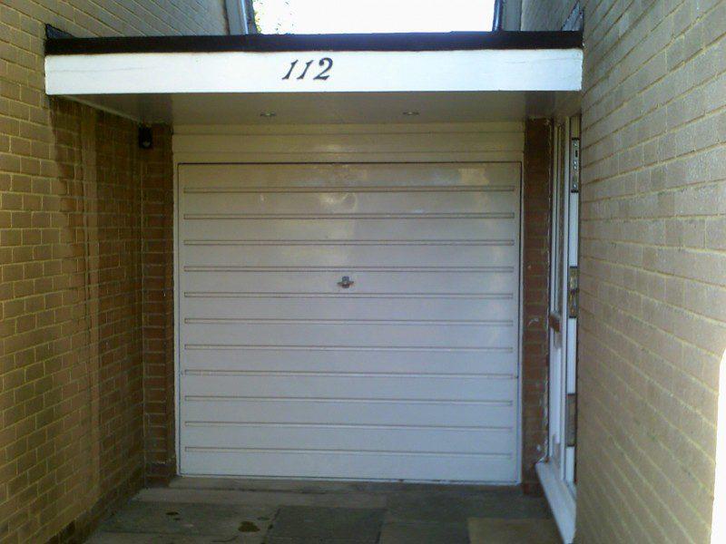 Anthracite Grey Insulated Roller Door (Before)