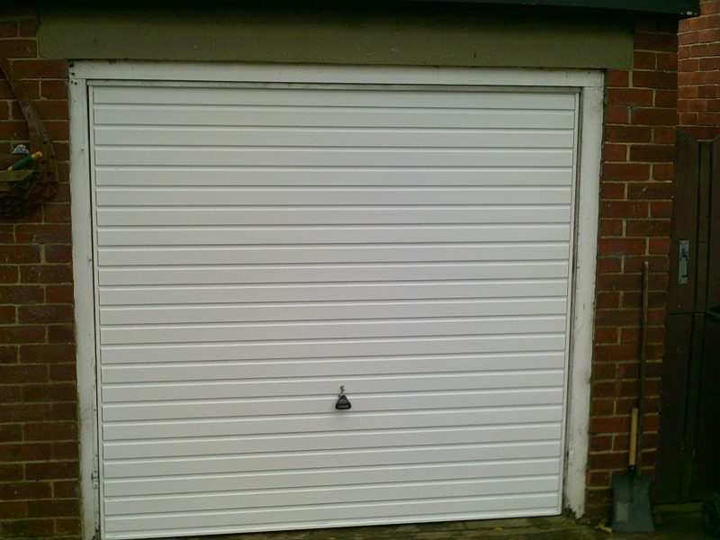 White Up and Over Horizon Garage Door (After)