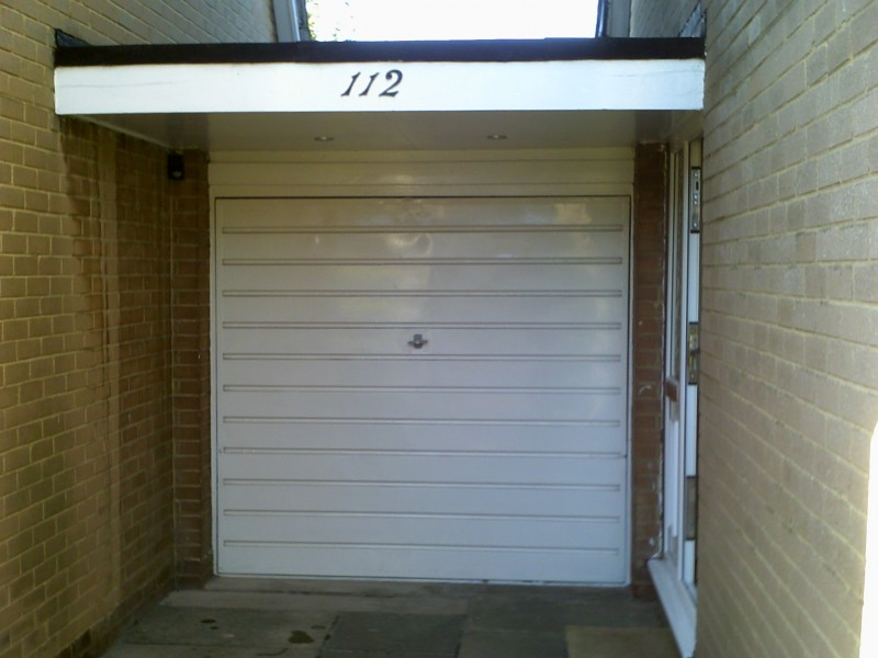 Seceuroglide Grey Remote Control Insulated Roller Garage Door (Before)