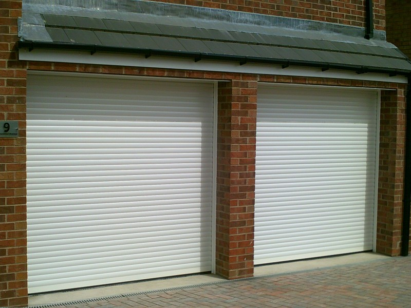 Seceuroglide White Remote Control Insulated Roller Garage Doors (After)