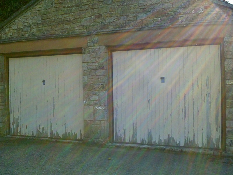 Rosewood Seceuroglide Remote Control Insulated Roller Garage Doors (Before)