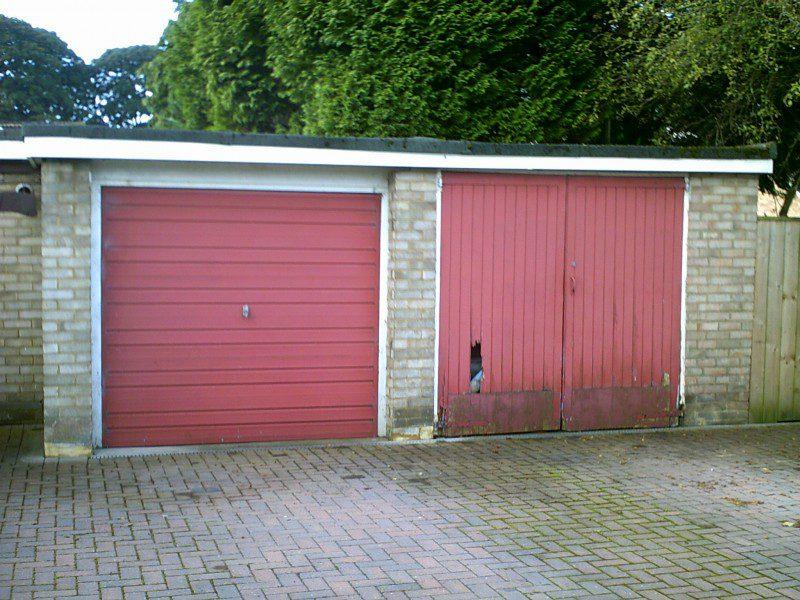 Seceuroglide External Fit Insulated Garage Doors (Before)