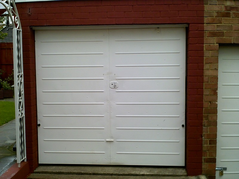 Cathedral Style Up and Over Garage Door (Before)