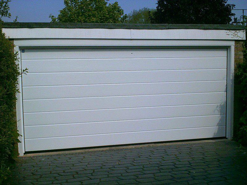 White Rib Style Sectional Garage Door Abbey Garage Doors