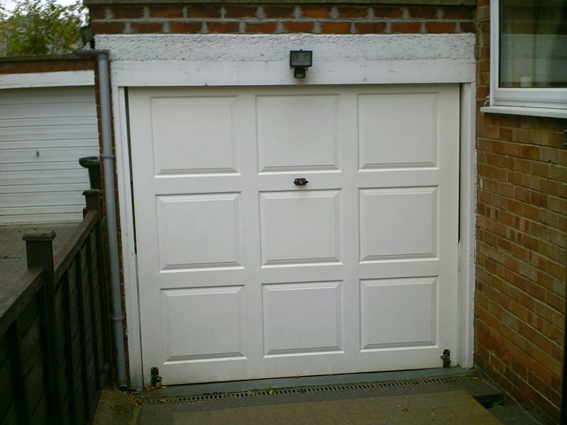 Rib Style Sectional Garage Door (Before)