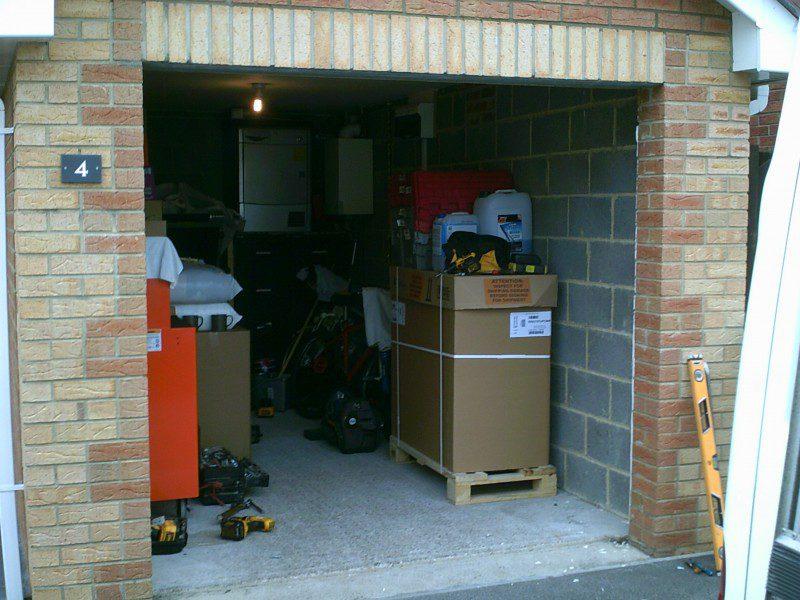 Black Insulated Rib Sectional Garage Door (Before)