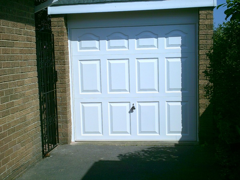 Georgian style Up and Over Garage Door (After)