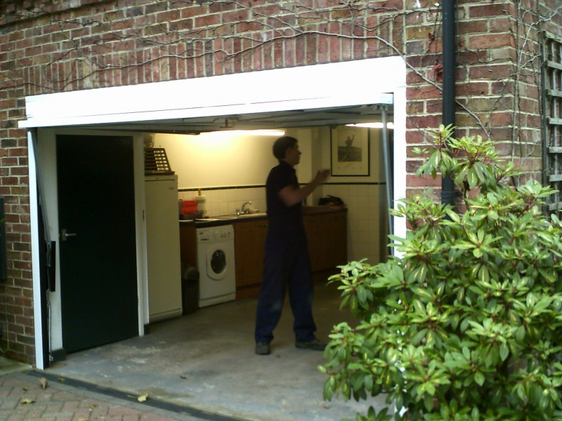 Up and Over Georgian Style Garage Door (Before)
