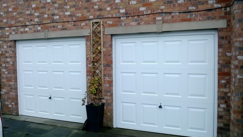 Georgian Style up and over garage doors (After)