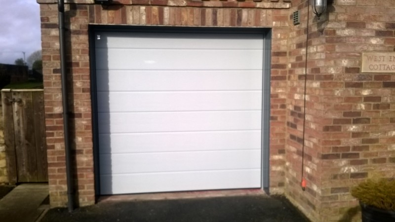 Teckentrup ribbed insulated sectional door (After)