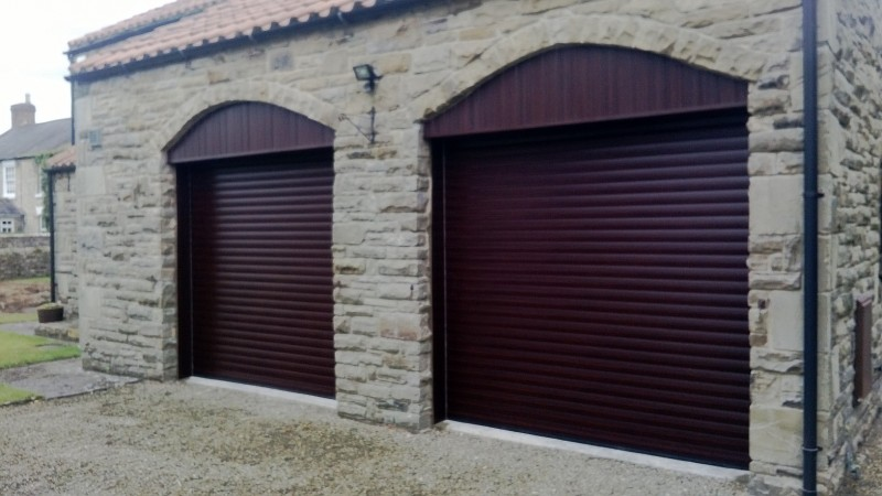 Rosewood Laminated Insulated Roller Doors (After)
