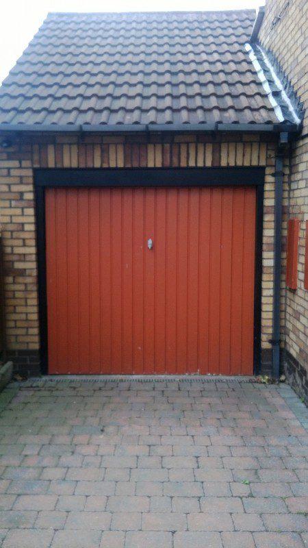Red Insulated Roller Door (Before)