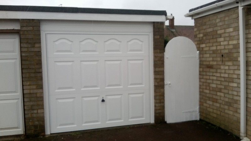 Cathedral up and over garage door (After)