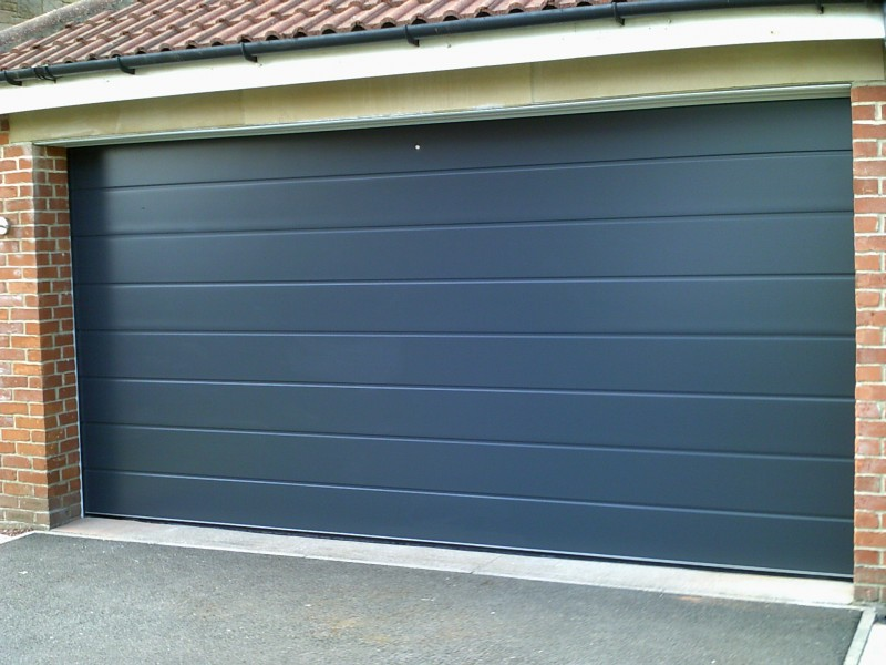 Anthracite Grey Sectional Door (After)