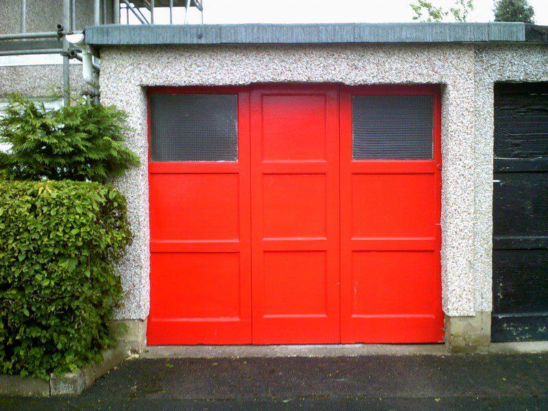 Blue Sectional Garage Door (Before)