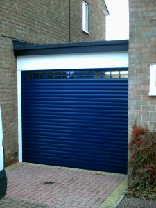 Blue Insulated Roller Garage Door  (After)
