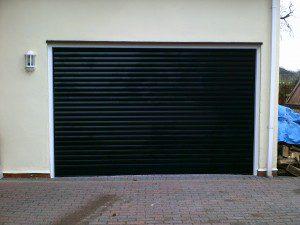 Black Insulated Roller Garage Door (After)