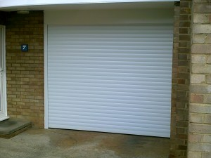 White Insulated Roller Garage Door (After)