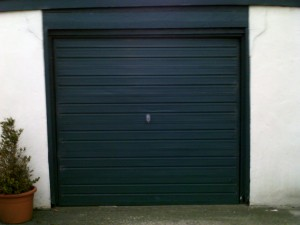 Black Insulated Roller Garage Door (Before)