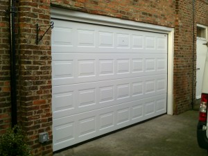 White Georgian Sectional Door (After)