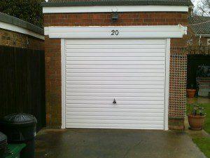 White Horizon Up and Over Garage Door (After)