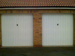 Rosewood Single Skin Roller Doors (Before)
