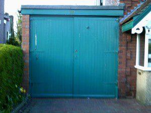 White Roller Garage Door (Before)