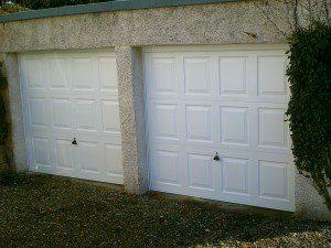 White Georgian Garage Door (After)