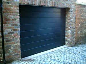 Anthracite Grey Sectional Garage Door (After)
