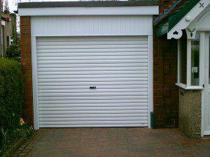White Roller Garage Door (After)