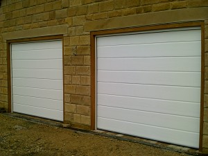 Ribbed Style White Sectional Garage Door (After)