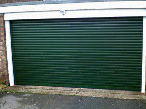 Green Insulated Roller Garage Door (After)