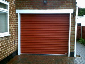 Terracotta Single Skin Roller Door (After)