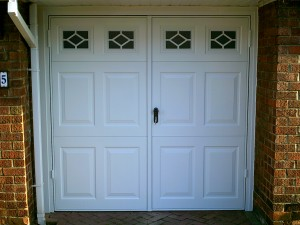 White Side-Hinged Beaumont Garage Door (After)