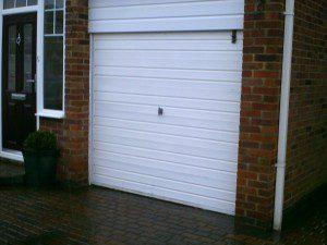 Rosewood Roller Garage Door (Before)
