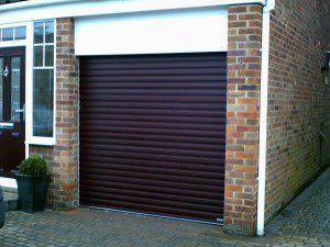 Rosewood Roller Garage Door (After)