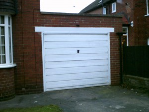 Anthracite Grey Insulated Roller Garage Door (Before)