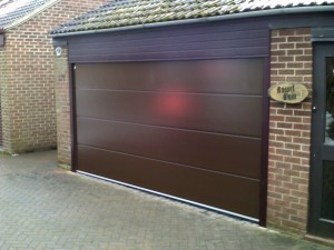 Smooth Finish Sectional Garage Door (After)