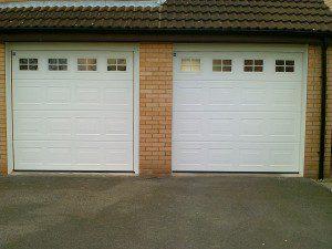 White Georgian Sectional Garage Door (After)