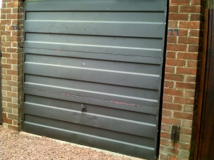 Rosewood Insulated Roller Garage Door (Before)