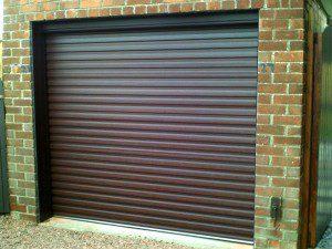 Rosewood Insulated Roller Garage Door (After)