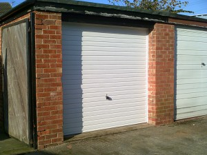 White Carlton Up and Over Garage Door (After)