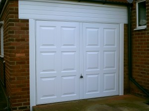 White Sherbourn Up and Over Garage Door (After)