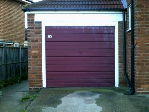 White Sherbourn Up and Over Garage Door (Before)