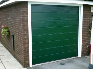 Moss Green Sectional Garage Door (After)