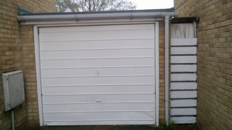 White Up and Over Garage Door (Before)
