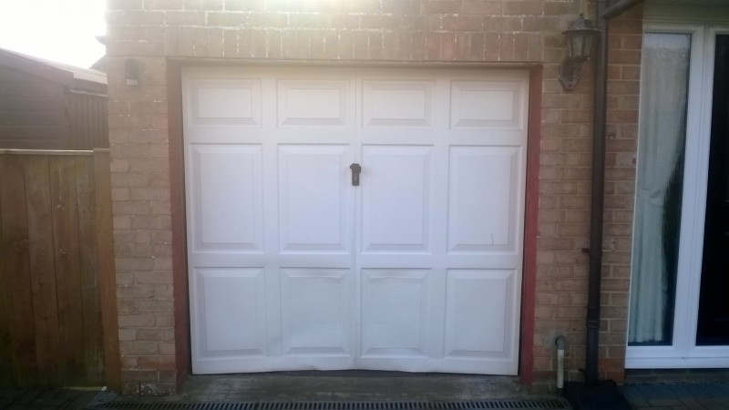 White Georgian style door (Before)