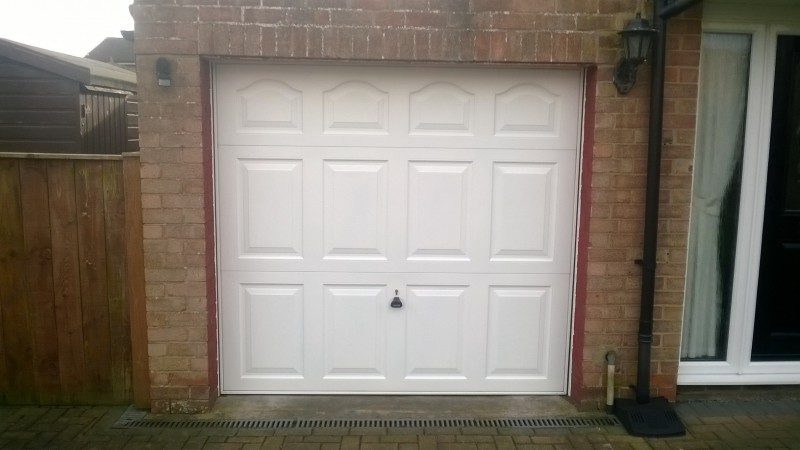 White Georgian Style Door Abbey Garage Doors