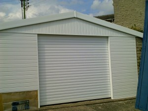 White Insulated Roller Garage Door (After)